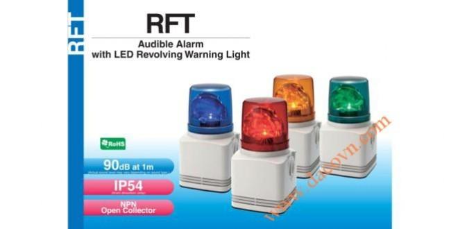 Đèn Quay Cảnh báo Có Loa Patlite Φ100, 32 Âm Báo MP3, 90dB, LED, IP54, RFT