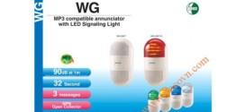 Đèn Cảnh báo Có Loa Treo Tường Patlite, Âm Báo MP3, 90dB, LED, IP20, WG