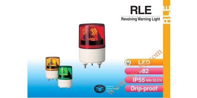 Đèn Quay Cảnh bảo Patlite Φ82, Bóng LED Chùm, IP55, RLE