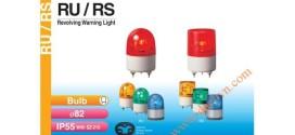 Đèn Quay Cảnh báo Patlite Φ82, Bóng Sợi Đốt, Chống Rung, IP55, RU