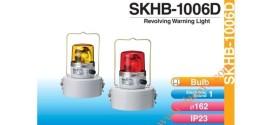 Đèn Quay Cảnh báo Di Động Patlite Φ162, Battery Khô, Âm Báo 90dB, Bóng Sợi Đốt, Chống Rung, IP23, SKHB-1006D