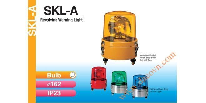 Đèn Quay Cảnh báo Patlite Φ162, Bóng Sợi Đốt, Thân Thép, IP23, SKL-A, SKL-CA, SKL-SA