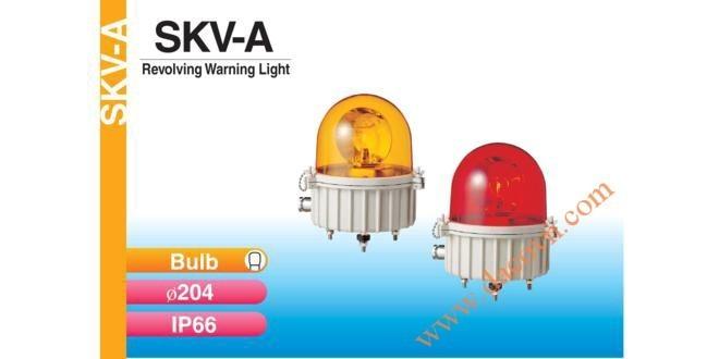 Đèn Quay Cảnh báo Patlite Φ204, Bóng Sợi Đốt, Chịu Nhiệt, Chống Ăn Mòn, IP66, SKV-A
