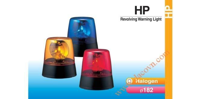 Đèn Quay Cảnh báo Patlite Φ182, Bóng Halogen, 12VDC/24VDC, HP-12/24