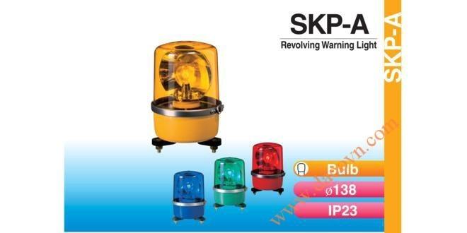 Đèn Quay Cảnh báo Patlite Φ138, Bóng Sợi Đốt, Chống Rung, IP23, SKP-A