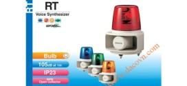 Đèn Quay Cảnh báo Có Loa Patlite Φ162, 105dB, 32 Âm Báo MP3, Bóng Sợi Đốt, IP23/IP65, RT