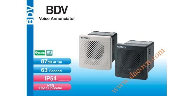 Loa Còi Cảnh báo MP3 Patlite, Còi Buzzer 15 Âm Báo 87dB, Vuông 80mm, IP54, BDV