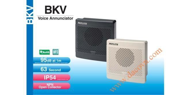 Loa Còi Cảnh báo MP3 Patlite, Còi Buzzer 32 Âm Báo 95dB, Vuông 80mm, IP54, BKV