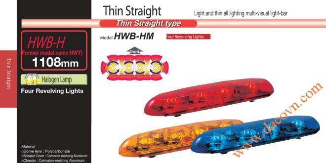 Đèn cảnh báo tín hiệu xe cảnh sát, cứu thương Patlite 1108mm: HWB-12H