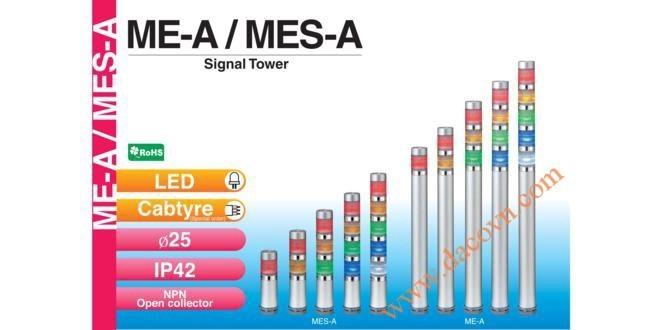 Đèn Tháp Tầng Cảnh báo Patlite Φ25, Bóng LED, IP42, ME-A / MES-A