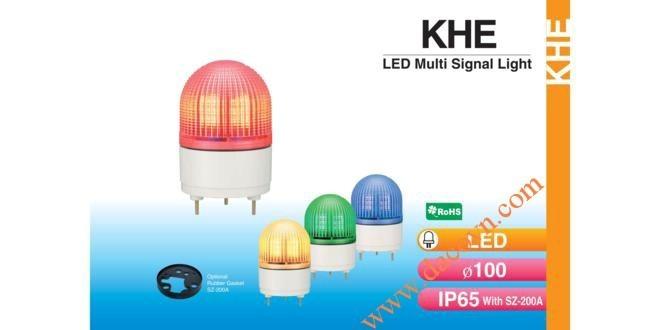 Đèn cảnh báo tín hiệu Patlite Φ100, LED, chống rung, IP65, KHE
