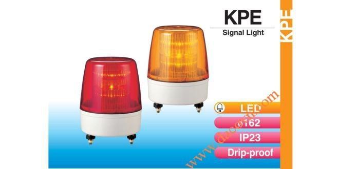 Đèn cảnh báo tín hiệu Patlite Φ162, bóng LED, nhấp nháy, IP23, KPE