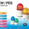 Đèn cảnh báo Patlite Φ82, LED, nhấp nháy, âm báo 85dB, IP55, PEW-B