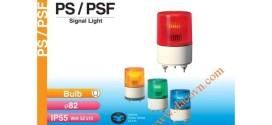 Đèn cảnh báo tín hiệu Patlite Φ82, bóng sợi đốt, nhấp nháy, IP55, PS/PSF