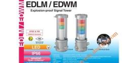 Đèn Tháp Cảnh báo Chống Cháy Nổ Patlite LED Φ140 IP66 EDLM / EDWM