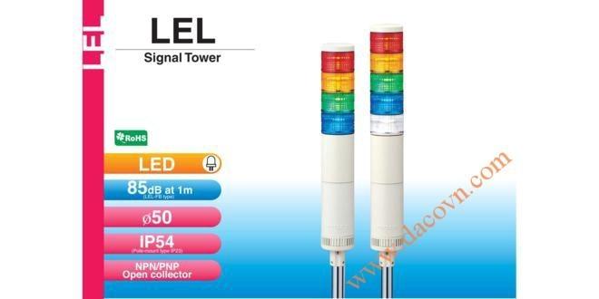 Đèn Tháp Tầng Cảnh báo Patlite, LED Φ50, Còi 85dB, Nhấp Nháy IP54, LEL