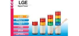 Đèn Tháp Tầng Cảnh báo Patlite LED Φ100 Âm Báo 85dB Nhấp Nháy IP54 LGE