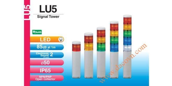 Đèn Cảnh báoTháp Tầng Patlite Module LU5 Φ50, Còi 85dB, Nhấp Nháy, IP65, LU5/LU5-FB/LU5-E