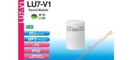 Module âm thanh đèn tháp cảnh báo Patlite LU7 Φ70, 4 âm báo MP3, 80dB, LU7-V1