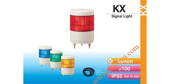 Đèn cảnh báo tín hiệu Patlite Φ100, bóng Xenon, chống rung, IP55, KX