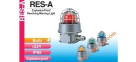 Đèn quay cảnh báo chống cháy nổ Patlite Φ224 bóng sợi đốt IP65, RES-A