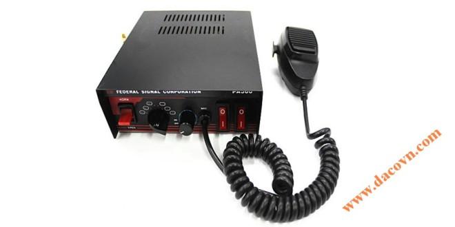 Bộ tạo tín hiệu còi hú xe ưu tiên PA300-100W, 100W, 2 công tắc bật đèn