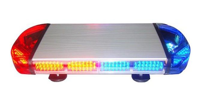 Đèn hộp ngắn cảnh báo xe ưu tiên LED Light Bar LED-815L dài 60cm, nam châm hút dính, tẩu nguồn