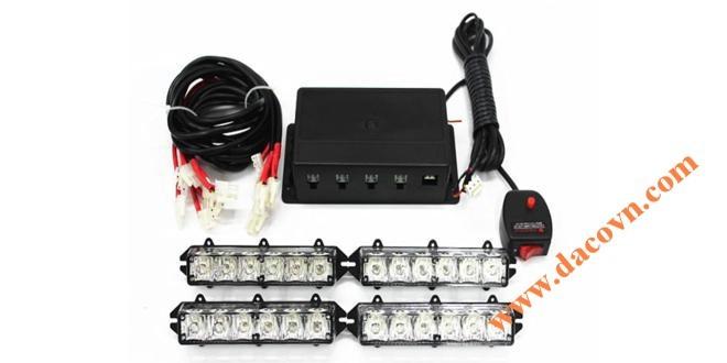 Đèn LED gắn dưới nắp ca pô hút gió xe ô tô LED-4-6H, 4 cụm LED 6 bóng