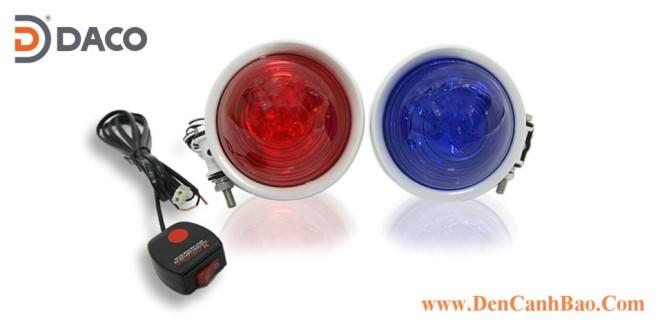 PM-200 Đèn báo xe Motor ưu tiên XANH – ĐỎ – VÀNG – TRẮNG: 2 Đèn 6W x 2