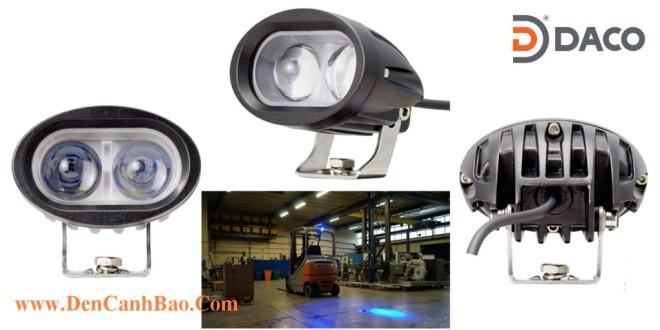 Đèn rọi điểm an toàn cho xe nâng Forklift FLSZSL-8187B, 10-80VDC, 10W, IP67