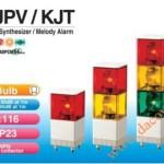 Đèn Quay Cảnh báo Có Loa Patlite Dạng Tháp, Vuông 116mm, Bóng Sợi Đốt, 95dB, IP23, KJPV / KJT