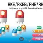 Đèn Quay Cảnh báo Patlite Φ100, Bóng LED Chip Siêu Sáng, IP55, RKE - Den-quay-bao-hieu-Patlite-RKE-RKEB-RHE-RHEB