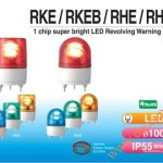Đèn Quay Cảnh báo Φ100, Có Còi 90dB, Bóng LED Chip Siêu Sáng, IP55, RHEB - Den quay canh bao RHEB