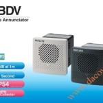 Loa Còi Cảnh báo MP3 Patlite, Còi Buzzer 15 Âm Báo 87dB, Vuông 80mm, IP54, BDV - Loa coi canh bao MP3 Patlite - BDV