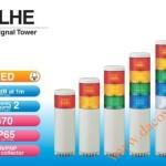 Đèn Tháp Tầng Cảnh báo Patlite LED Φ70, Còi 90dB, Nhấp Nháy, IP65, LHE - Den-thap-tang-bao-hieu-tin-hieu-canh-bao-Patlite-LHE