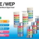 Đèn tháp cảnh báo Patlite hình bán nguyệt LED Φ90 còi 90dB nhấp nháy WE/WEP - Den-thap-tang-bao-hieu-tin-hieu-canh-bao-Patlite-WE-WEP
