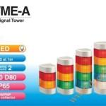 Đèn Tháp Cảnh báo Bán Nguyệt Trụ Patlite LED Φ70, 2 Âm Báo 90dB Nhấp Nháy IP65, WME-A - Den-thap-tang-bao-hieu-tin-hieu-canh-bao-Patlite-WME-A