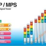 Đèn Tháp Tầng Cảnh báo Patlite, Đèn Báo Φ30, Bóng LED, IP65, MP / MPS - Den thap tang canh bao Patlite MP/MPS