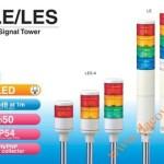 Đèn Tháp Cảnh báo Patlite, LED Φ50, Còi 85dB, Nhấp Nháy IP54, LE / LES - Den thap canh bao Patlite LE/LES
