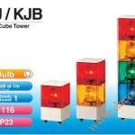 Đèn tháp cảnh báo Patlite vuông 116mm, bóng sợi đốt còi 85dB nhấp nháy KJ/KJB - Den-thap-tang-canh-bao-tin-hieu-bao-hieu-KJ/KJB