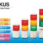 Đèn tháp cảnh báo Patlite vuông 70mm LED còi 80dB nhấp nháy, KUS/KUS-F - Den-thap-tang-canh-bao-tin-hieu-bao-hieu-Patlite-KUS/KUS-F